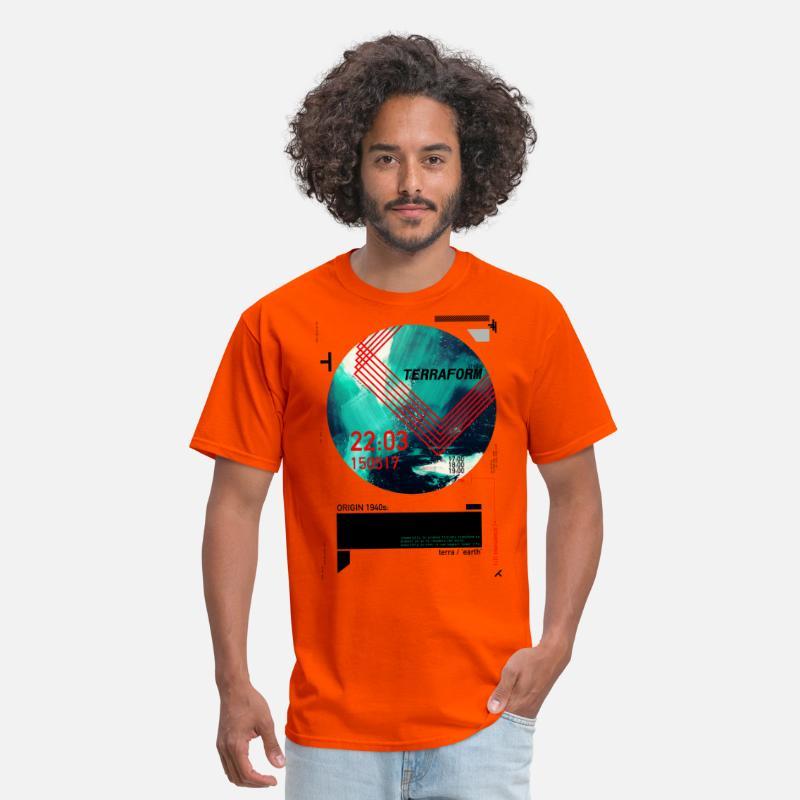 Pop Art Terraform Men's T-Shirt - orange