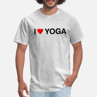 Childrens Mental Health I LOVE YOGA BLK - Men's T-Shirt
