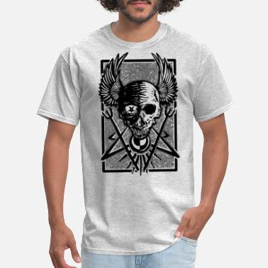 The Lumineers Skull luminous Darkness - Gothic - Men's T-Shirt