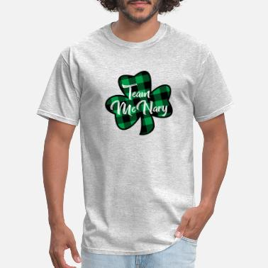 Celtic Team McNary Surname Plaid Shamrock - Men's T-Shirt