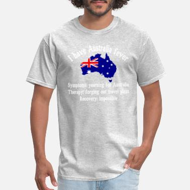 I Travel Australia I have Australia fever - traveling - adventure - Men's T-Shirt