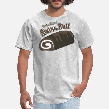 Sweet Roll Sweet Tooth Collection Fudge Covered Swiss Roll - Men's T-Shirt