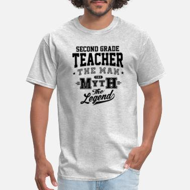 Cool Second Grade Teacher Second Grade Teacher Legend - Men's T-Shirt
