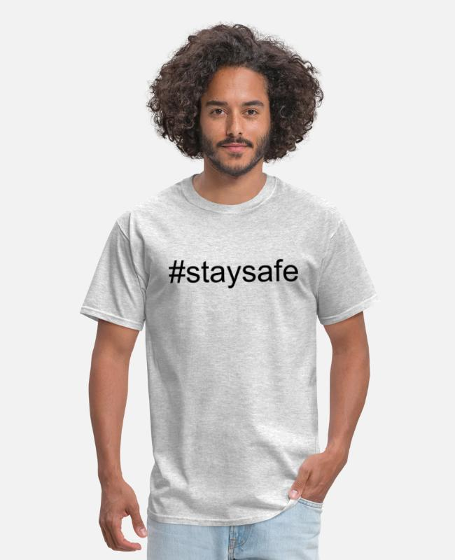 Covid-19 T-Shirts - Stay safe - Men's T-Shirt heather gray