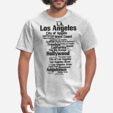 City Los Angeles (L.A. Angeltown, City of Angels) - Men's T-Shirt