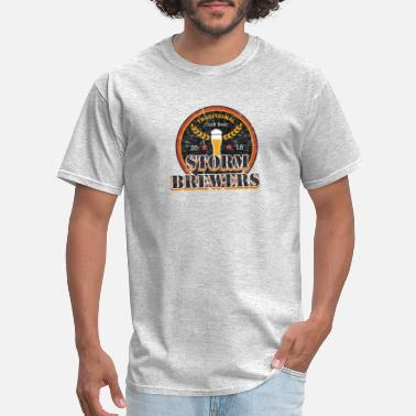 Stout Storm Brewers | Retro Beer IPA Lager Amber Stouts - Men's T-Shirt