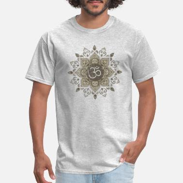 Om Om Mandala | Spiritual New Age Buddhist Yoga - Men's T-Shirt