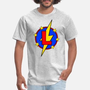 Logan For Kids My Little Super Hero Kids & Baby Letter L - Men's T-Shirt