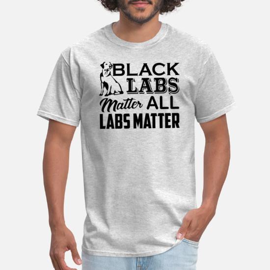 Black Labs Matter Mens Long Sleeve T Shirt