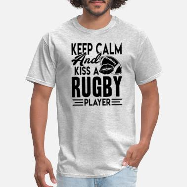 Rugby Kiss A Rugby Player Shirt - Men's T-Shirt