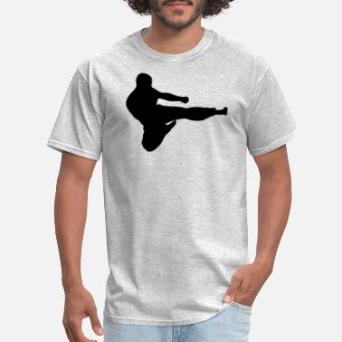 Karate Silhouette Karate Fighter Silhouette - Men's T-Shirt