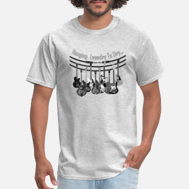 Musical Instrument hanging laundry - Men's T-Shirt