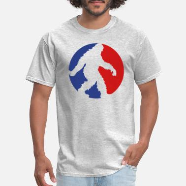 Sideways sport circle round logo going running sideways big - Men's T-Shirt