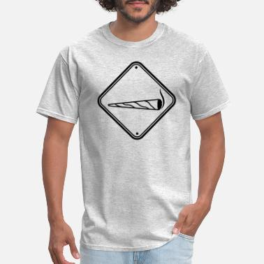 Stones caution shield note caution zone joint clipart log - Men's T-Shirt