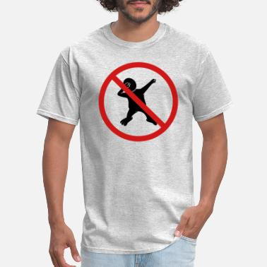 Cartoon forbidden sign no dabbing warning silhouette danci - Men's T-Shirt