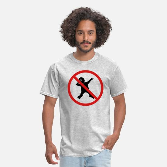 Party T-Shirts - forbidden sign no dabbing warning silhouette danci - Men's T-Shirt heather gray