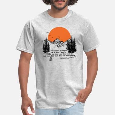Poetry Robert Frost - Road Less Travelled - Men's T-Shirt
