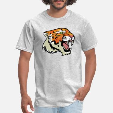 Growl Growling Tiger - Men's T-Shirt