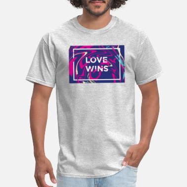Love Wins Rainbow Flag Love Wins Rainbow Paint Typographic - Men's T-Shirt