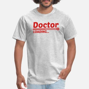 Heartbeat Doctors text doctor listening heartbeat pulse doctored nur - Men's T-Shirt