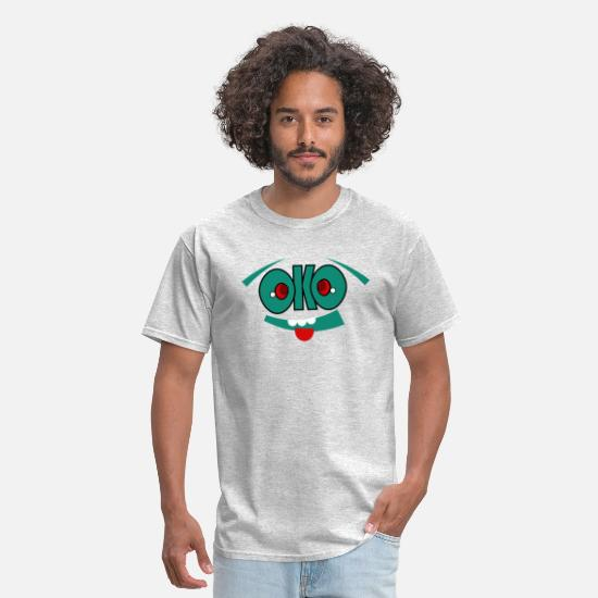 Face T-Shirts - ok face - Men's T-Shirt heather gray