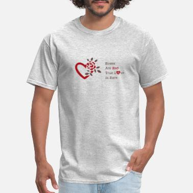 Roses Are Red Love Design - Men's T-Shirt