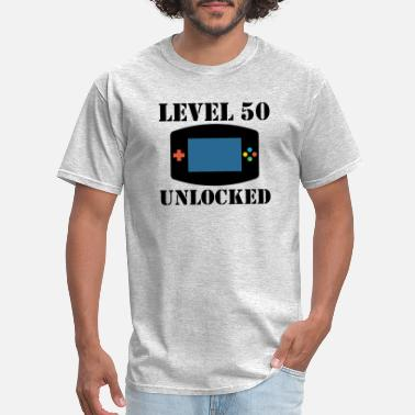 Level 50 Level 50 Unlocked Video Games 50th Birthday - Men's T-Shirt