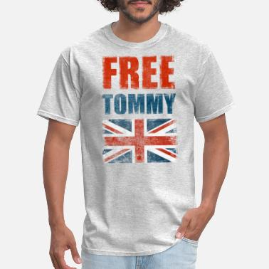 Tommy Free Tommy Robinson Free Speech Freedom UK - Men's T-Shirt