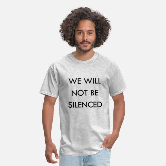 Will T-Shirts - We Will Not Be Silenced - Men's T-Shirt heather gray