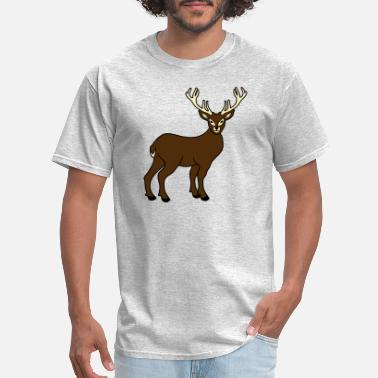 Comic Strips standing comic cartoon clip art deer antler horns - Men's T-Shirt
