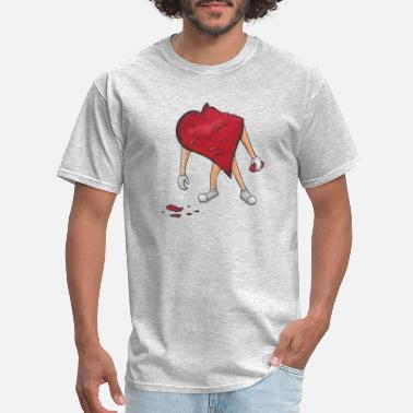Drawn Together Heart character tries to put itsefl together - Men's T-Shirt