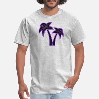 Sun Tan Neon Palm Trees - Men's T-Shirt