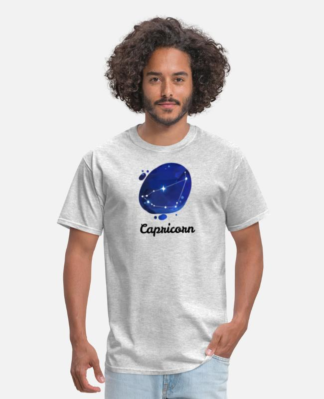 Capricorn T-Shirts - Capricorn Constellation Zodiac Sign Horoscope Gift - Men's T-Shirt heather gray