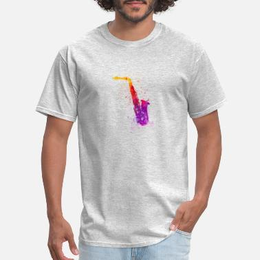 Colorful saxophone colorful icon - Men's T-Shirt