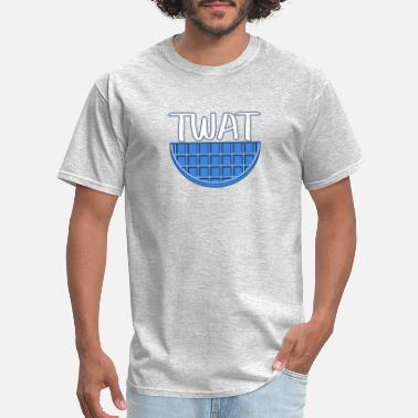 Funniest Phrases And Slogans Blue Twat Waffle - Men's T-Shirt