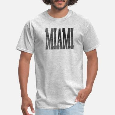 B&w MIAMI (b/w) - Men's T-Shirt
