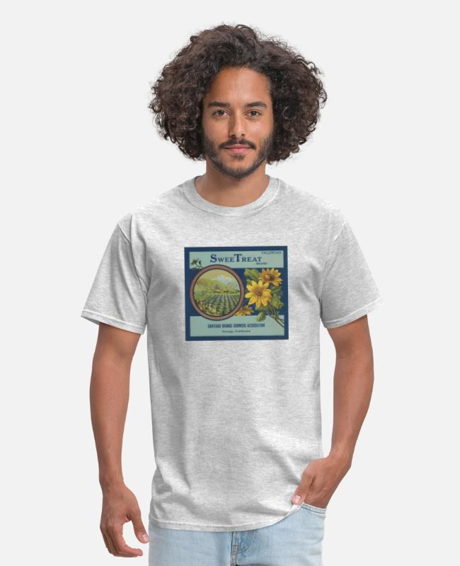 Mountains T-Shirts - SWEET TREAT - Men's T-Shirt heather gray