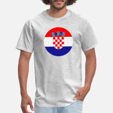Usta zastava Hrvatska flag Croatia - Men's T-Shirt
