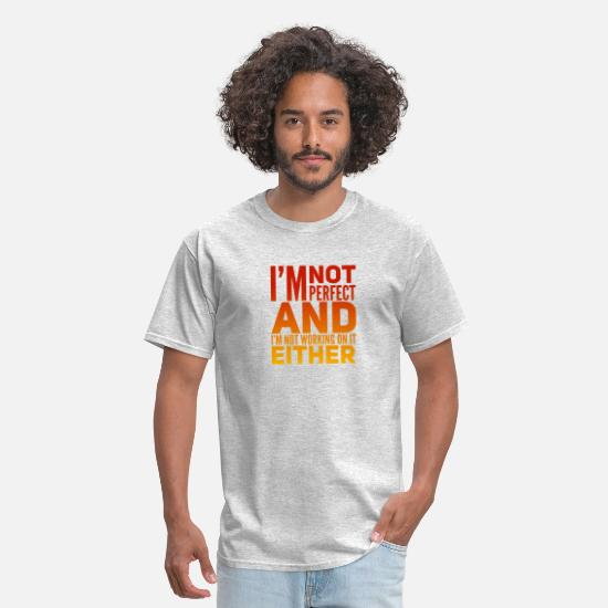 Aesthetic T-Shirts - I'm not perfect - Men's T-Shirt heather gray