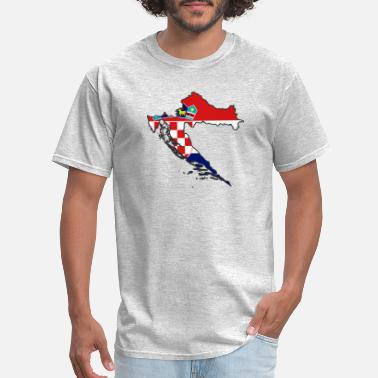 Usta flag Croatia map Hrvatska - Men's T-Shirt