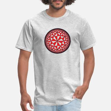 Hyperbole Hyperbolic Tiling of a Circle - Men's T-Shirt