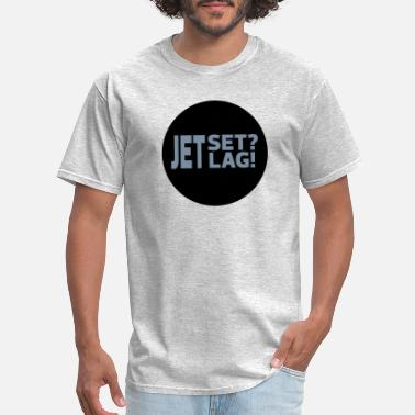 Jetset Statements 01 03 Jetset Jetlag - Men's T-Shirt