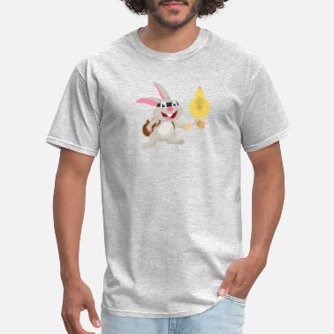 Thief Thief Easter Rabbit Steals Decorated Hen Eggs - Men's T-Shirt