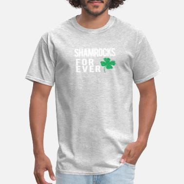 St Patrick Fantasy Awesome Shamrocks Forever gift for Irish Soccer - Men's T-Shirt