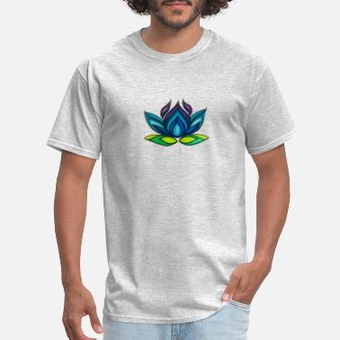 Sigrid Blue Lotus Yoga Logo, Plain - Men's T-Shirt
