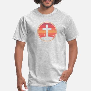 Jesus Retro Christian Cross Of Jesus - Men's T-Shirt