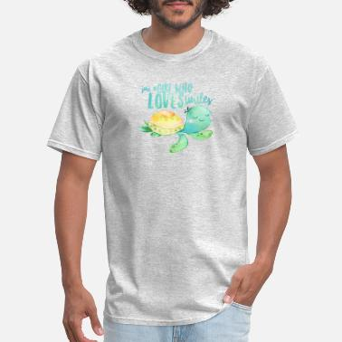 Just a Girl who loves Turtles design gift for - Men's T-Shirt