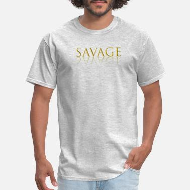 Gold Savage Letter Reflection graphic - Men's T-Shirt