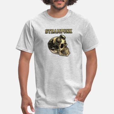 Tribal Fusion skull of death steampunk - Men's T-Shirt