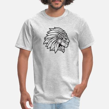 Warrior Mascot Indian Chief Mascot Cherokee Mascot Warrior Brave - Men's T-Shirt